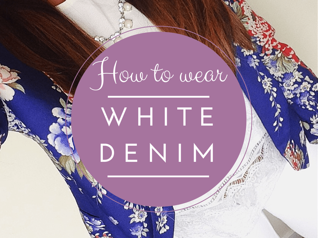 How to wear white denim