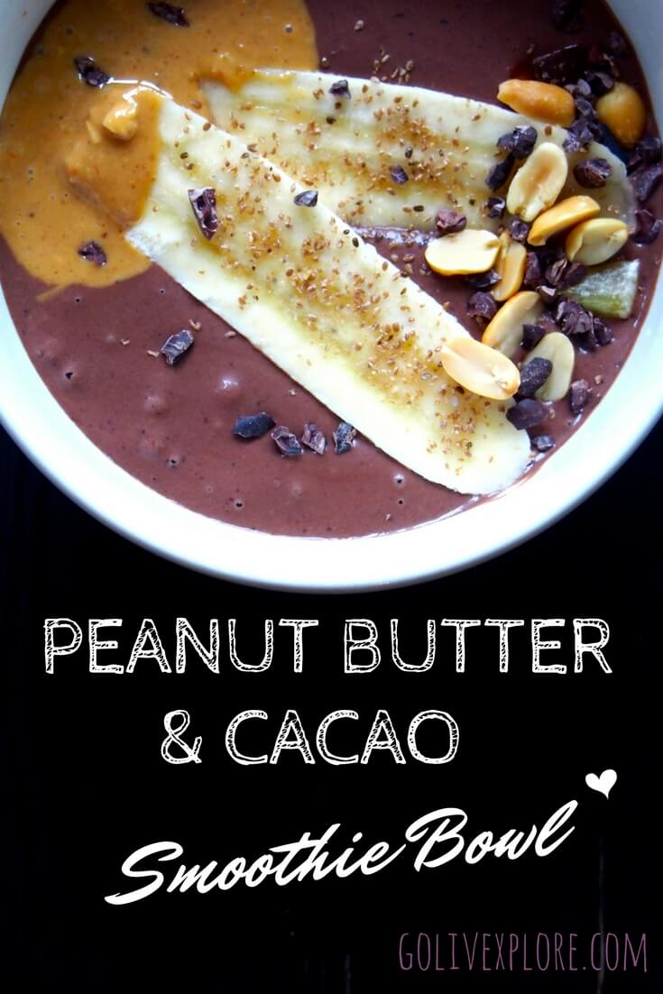 Peanut Butter Cacao Smoothie Bowl