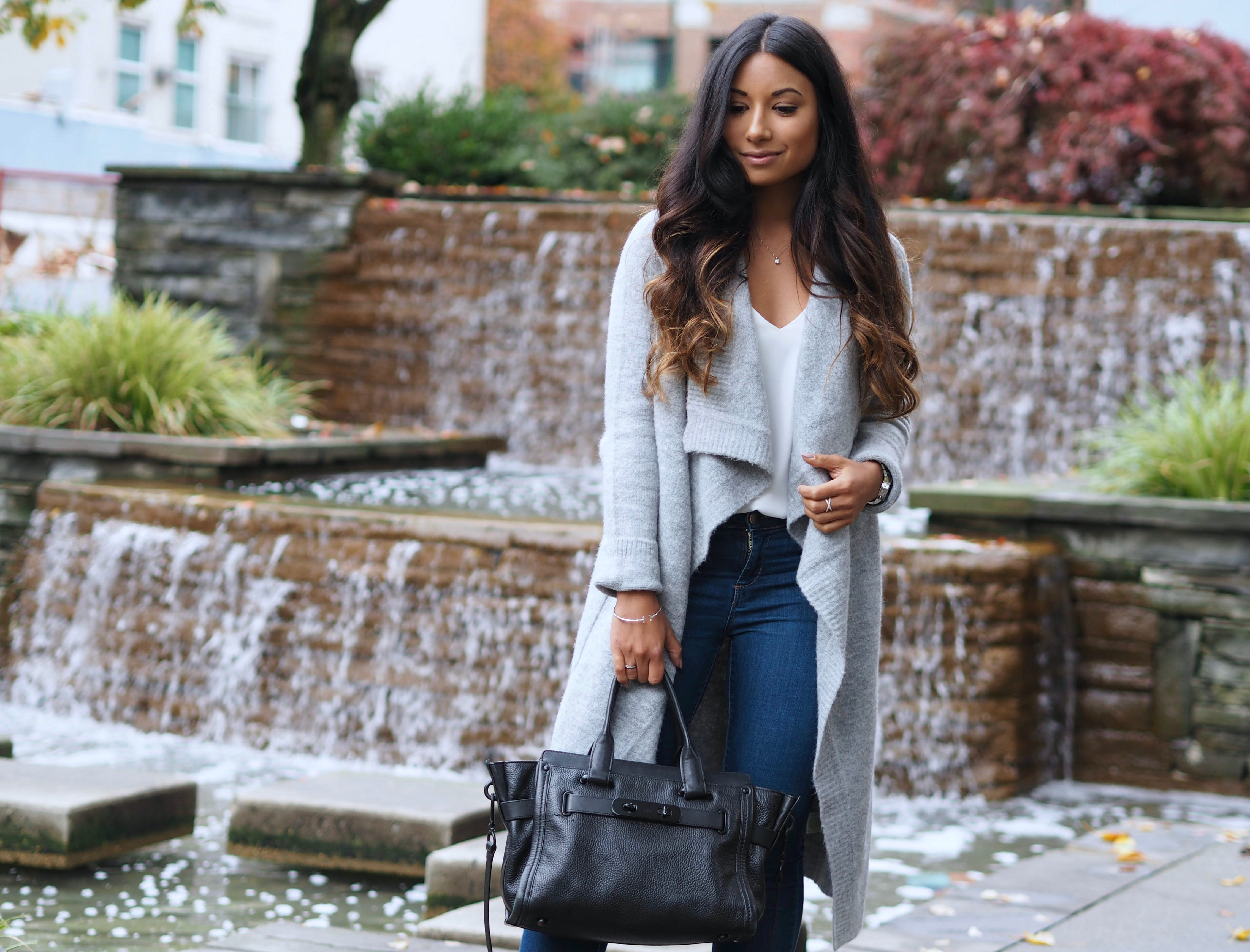 How To Style Long Chunky Cardigans