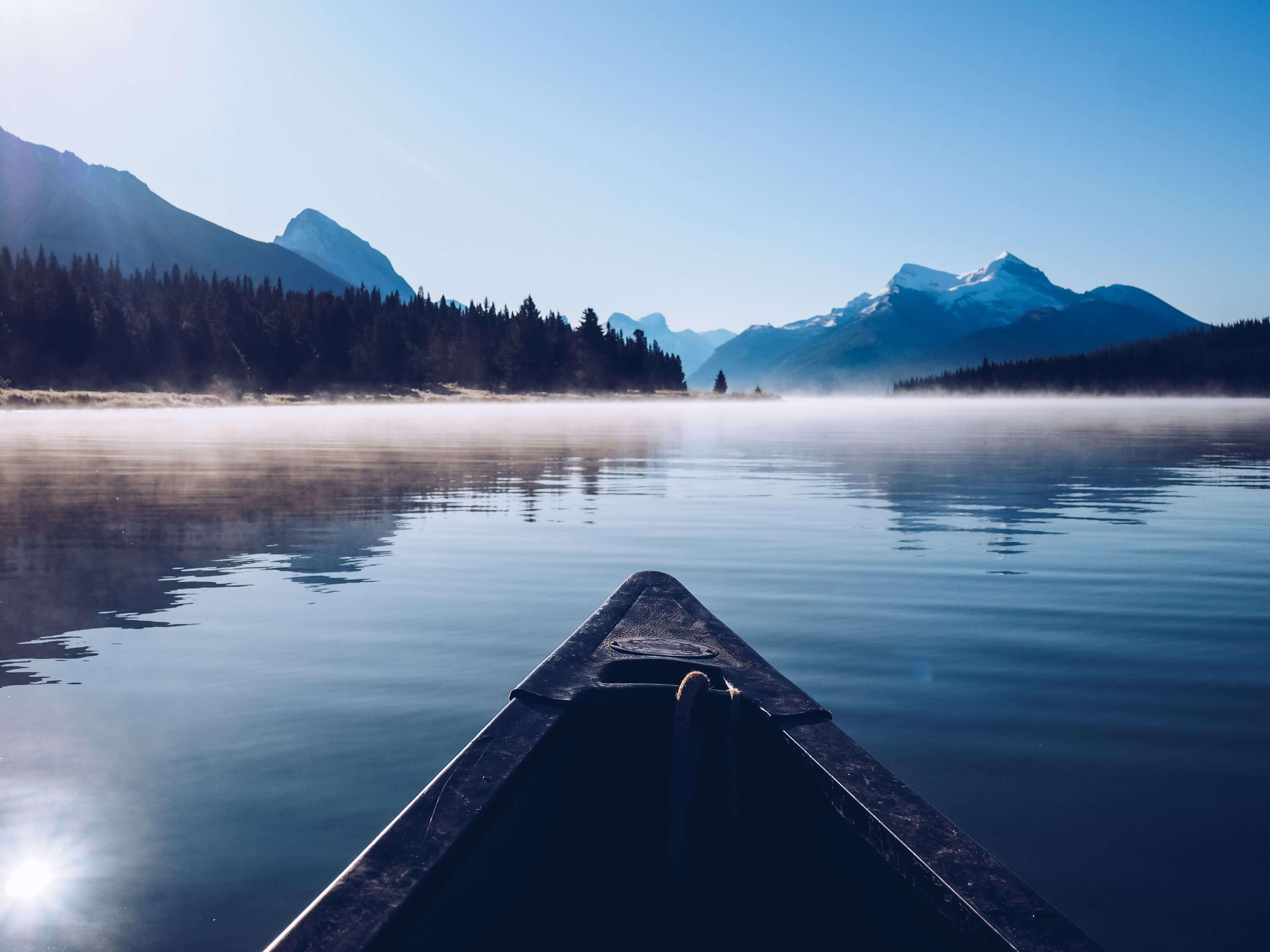 Maligne Lake Canoe