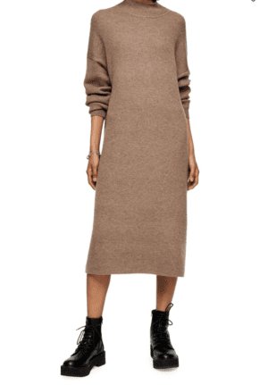 Topshop Knitted Longline Dress