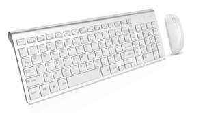 Wireless Keyboard & Mouse (White)