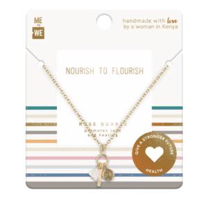 ME TO WE Love Rose Quartz Necklace