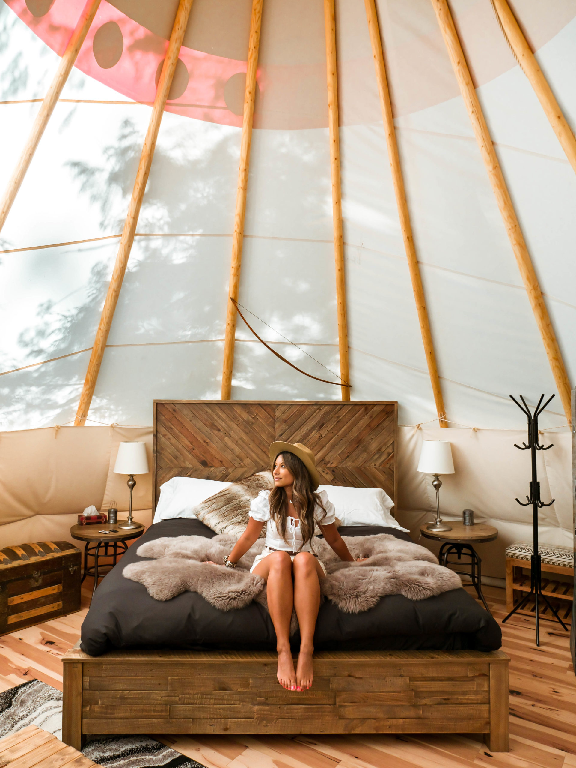 staying in a teepee british columbia
