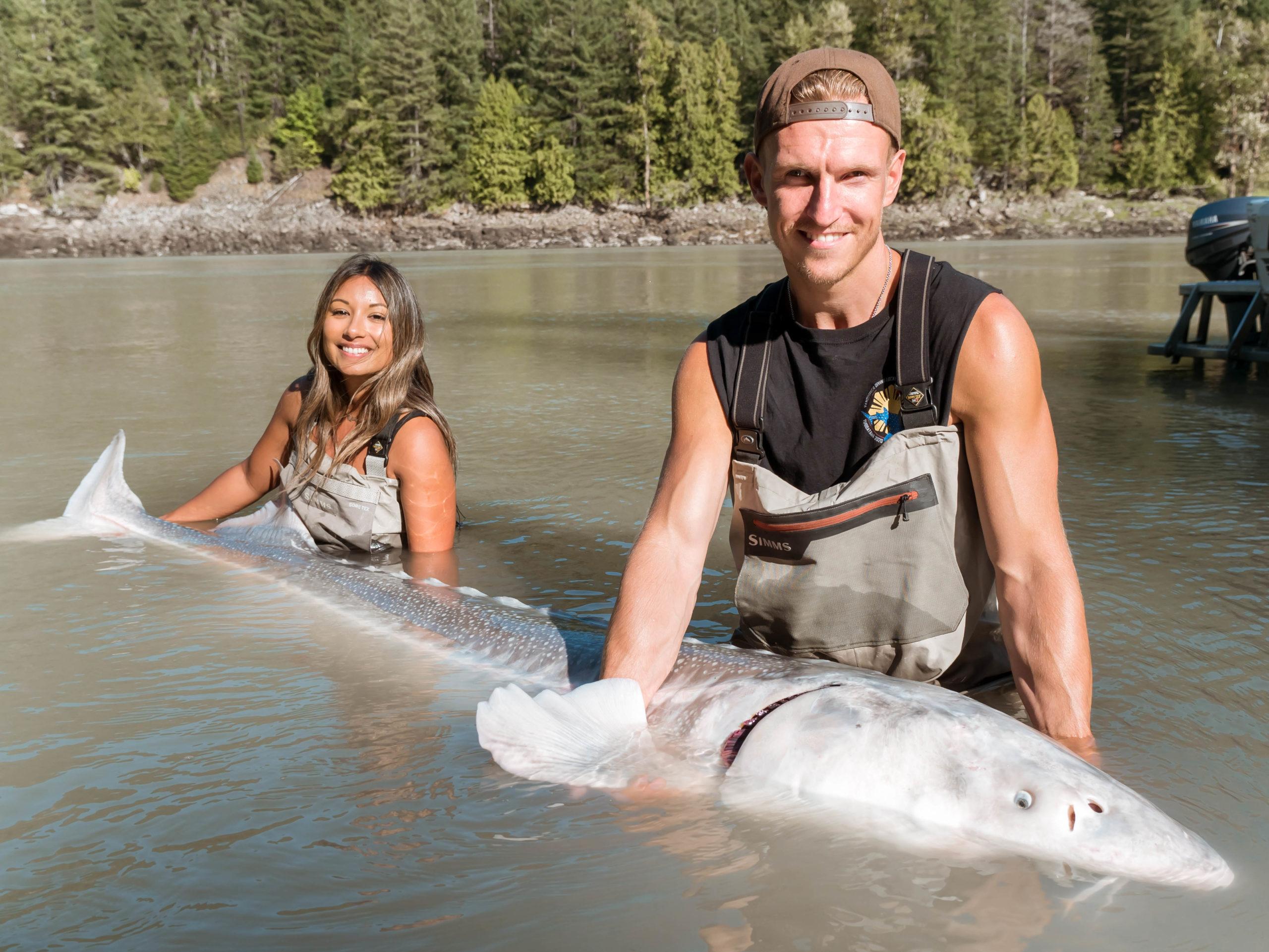 Sturgeon fishing in British Columbia